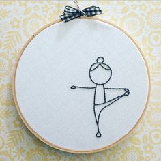 "8"" embroidery hoop . yoga hand embroidery . downward dog. standing . warrior . yoga pose . namaste . black & white . peace  love yoga by Embroiderwee on Etsy https://www.etsy.com/ca/listing/522623017/8-embroidery-hoop-yoga-hand-embroidery"