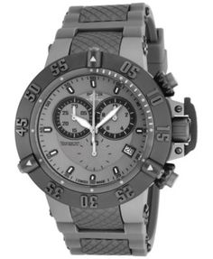 Shop for Invicta Men's 17214 Subaqua Quartz Chronograph Titanium Dial Watch. Get free delivery On EVERYTHING* Overstock - Your Online Watches Store! Best Watches For Men, Cool Watches, Men's Watches, Dream Watches, Luxury Watches, Patek Philippe, Miami Dolphins, Tag Heuer, Stainless Steel Watch