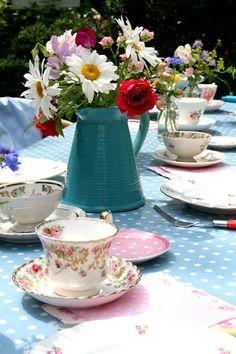 Tea party...  Nice table setting