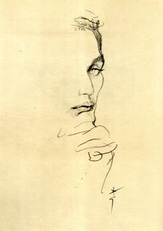 Study for portrait of Allan Graham by René Gruau