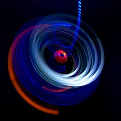"""Photonenrotor #62 - Moving lights in the darkness. Single exposure Light Art Photography, no Photoshop, no tricks. Worked with LED LENSER P5R.2 and M3R.  <a href=""""http://www.lichtkunstfoto.de"""">www.lichtkunstfoto.de</a>  <a href=""""https://www.facebook.com/Lichtkunstfoto"""">www.facebook.com/Lichtkunstfoto</a>"""