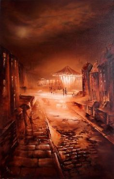 Bob Barker is a UK based artist, born and bred in Yorkshire. It's taken Bob Barker twenty years for his long time love of painting to evolve from a hobby to the point where interest in his work has taken on worldwide awareness. Fantasy City, Fantasy World, Norman Cornish, British Terms, Art After Dark, Irish Painters, Yorkshire Uk, Far Away, Night Time