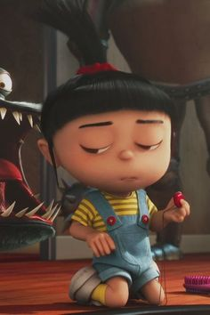Agnes is soo cute Agnes Despicable Me, Minions Despicable Me, Minions Love, My Minion, Cute Disney Wallpaper, Cartoon Wallpaper, Iphone Wallpaper, Cute Characters, Cartoon Characters
