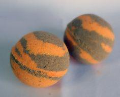 orange and chocolate bath bomb