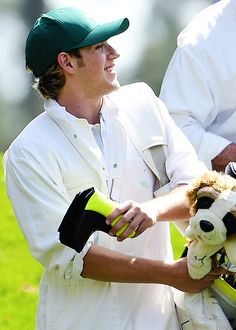 Niall at the Masters par 3 challenge #Rory'sCaddy