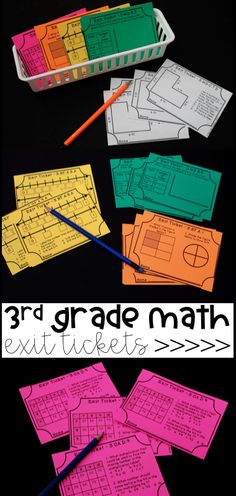 3rd Grade Math Exit Tickets! At least two for each standard! Great for test prep and organizing math small groups!