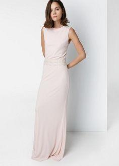 Vestido largo lazo - Vestidos de Mujer   MANGO