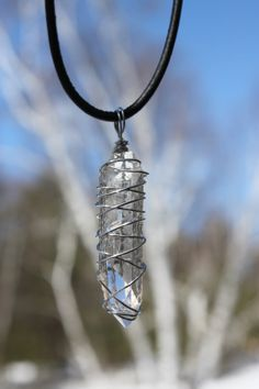 Natural  Quartz Crystal Point Stainless Steel by CrystalAffinity, $21.95