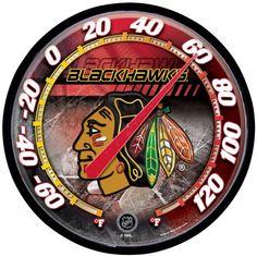 Chicago Blackhawks Round Thermometer (backorder)