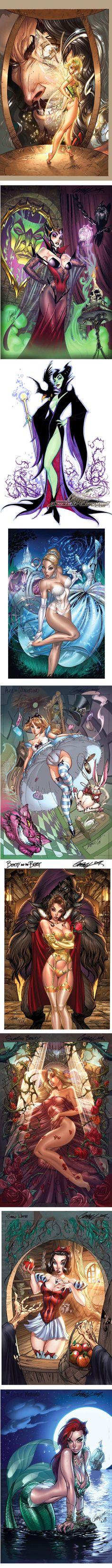 J. Scott Campbell Draws Naughty Disney Princesses