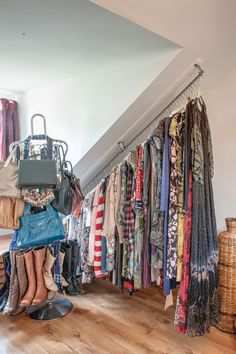 Great Closets With Sloped Ceiling House Slanted