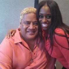 Rikiski Phatu (Solofa Fatu) & his future daughter-in-law Trinity McCray (Naomi)