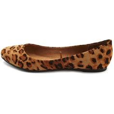 Sueded Leopard Ballet Flat (33 QAR) ❤ liked on Polyvore featuring shoes, flats, flat pumps, leopard print shoes, ballet flats, leopard print flats and leopard flats