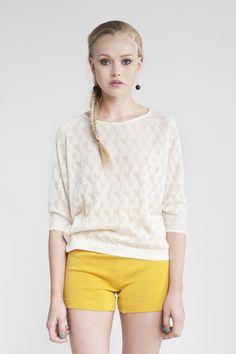 MASKA Elin eyelet top | 100% Peruvian Pima cotton | Knitted in the EU
