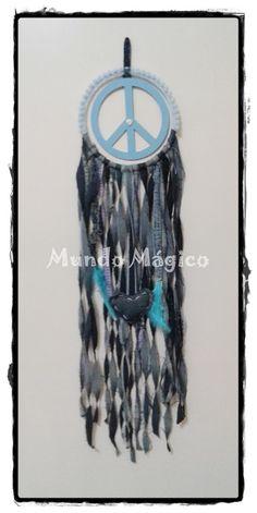 Atrapasueños Jean reciclados Mundo Mágico Símbolo de la paz