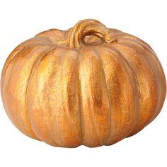Found it at Joss & Main - Faux Gold Pumpkin
