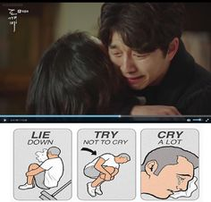 Last episode of Goblin... Tears held for more than 20 years rushed all out in minutes. Hear that? It's my heart breaking to a thousand pieces. T0T