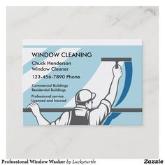 Modern Business Cards, Business Card Size, Mr Clean, Window Cleaning Services, Residential Windows, Washing Windows, Cleaning Business Cards, Window Cleaner, Personalized Products