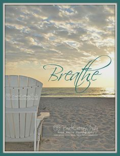 Just Breathe. When my head is spinning from a busy day, I have to remember to stop. Just breathe Ocean Quotes, Beach Quotes, Summer Quotes, Ocean Beach, Beach Bum, Summer Beach, Photography Beach, Beach Vibes, Summer Vibes