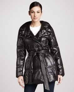 Glossy Hooded Puffer Coat by Coatology at Neiman Marcus.