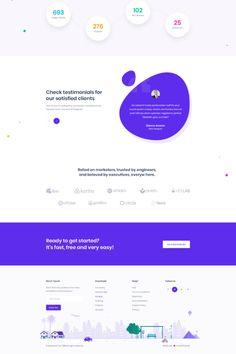 Saasland - MultiPurpose WordPress Theme for Startup Business Web Design Tips, Web Design Inspiration, App Design, Mobile Design, Flat Design, Website Layout, Web Layout, Layout Design, Design Your Own Website