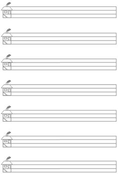 Große Lineatur und Schreiblinien zum Schreiben lernen Kindergarten Handwriting, Kindergarten Math Worksheets, Preschool Learning, Preschool Activities, English Activities, Alphabet Activities, Writing Activities, Easy English Grammar, Ruled Paper