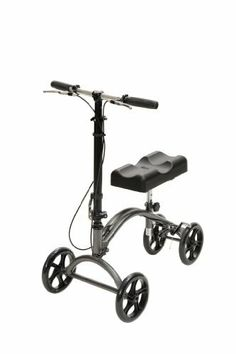 """Economy Knee Walker by Drive. $239.00. Tool free change from left leg to right leg use. Ideal for individuals recovering from foot surgery, breaks, sprains, amputation and ulcers of the foot. Deluxe lever brake ensures safety. Tool free height adjustment. 8"""" casters are ideal for indoor/outdoor use. 300 lb. Weight Capacity on 780 and 780J. Limited Lifetime Warranty."""
