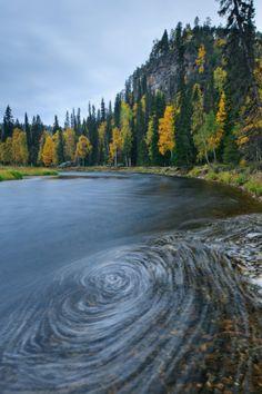 Kitkajoki river in Oulanka National Park Finland