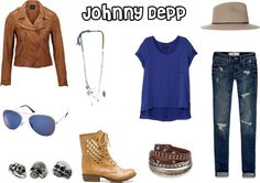 """""""Johnny Depp"""" Outfit. this isnt completely accurate. but i guess its close to what he wears in girl fashion. there would be scarves. and stiff, the jacket is sorta.... but ya i guess its ok...."""