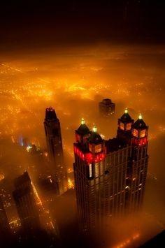 Foggy Night, Chicago, Illinois  photo via victoria