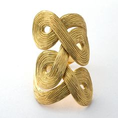 Ring | H Stern.  18 k yellow gold with brushed texture.