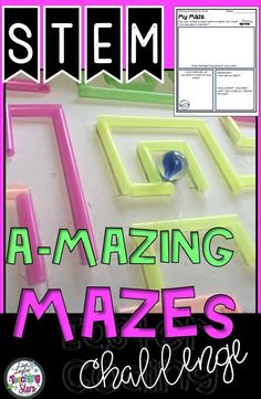 STEM Amazing Mazes is a STEM activity where students compare and contrast mazes and then design and create one using recycled materials! Your students will be engaged as they go through the Engineering Process! These activities can also be used for STEAM