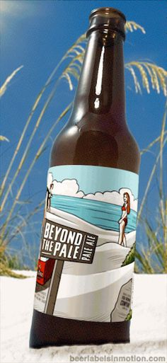 Beyond The Pale Beyond The Pale is a very solid Pale Ale brewed by Fish Brewing Co. in WA and features some great label artwork. Clothing is optional while enjoying one of these beers. Heads up!