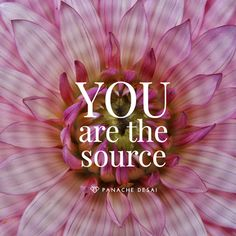 YOU are the Source. You are the source of all change on the planet. If you tend to your internal peace, you're tending to peace on earth. Panache Desai