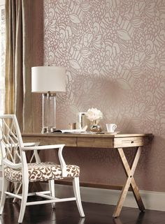 Jillian Wallpaper design by Ronald Redding | BURKE DECOR