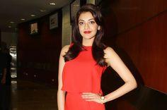 Telugu Film Actress Gallery: Kajal Agarwal At Oopiri Audio Launch Pics
