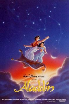 Aladdin Poster... I never noticed the Genie's face in the stars before.