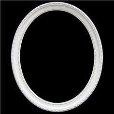"""16"""" x 20"""" Cream White Oval Open Scatter Frame"""