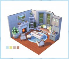 Sims 4 House Plans, Sims 4 House Building, Sims 4 Loft, Casas The Sims Freeplay, Muebles Sims 4 Cc, Sims 4 Bedroom, Sims 4 House Design, Casas The Sims 4, Sims Four
