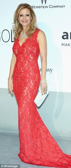 Cannes 2014.   amFAR.  Kelly Preston