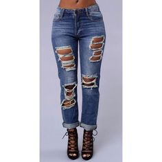 Boyfriend Jeans Medium wash boyfriend jeans. Distress in both the front and back. Perfect to dress up or dress down. *Not from listed brand, doing so for exposure* Zara Jeans Boyfriend