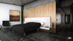 Tiled bedroom