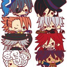 Kuroshitsuji Smile - Ciel, Black - Sebastian, Joker, Snake, the Undertaker, Grell, Doll, Prince Soma