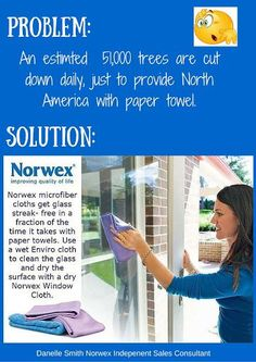 Norwex is a great alternative to make small changes that will make a HUGE difference! Use the Enviro cloth wet to wash windows and mirrors, follow with a dry polishing cloth to leave surface shiny and streak free!                                                                                                                                                                                 More