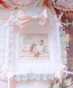 Shabby Chic Frames, Paper Towel Holder, White Beads, Pink Satin, Romantic, Trending Outfits, Unique Jewelry, Handmade Gifts, Etsy
