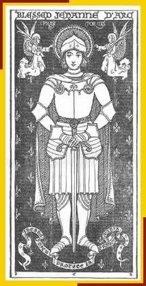 estampa de juana de arco tiempo antes de su canonización