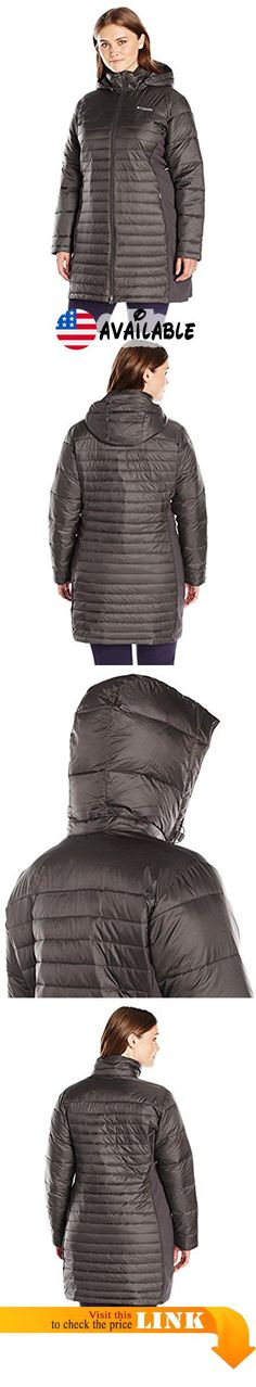 B01942ZJY6 : Columbia Women's Plus-Size Powder Pillow Hybrid Long Jacket Mineshaft 1X. Synthetic down insulation. Removable adjustable hood. Chin guard. 2-way center front zipper. Interior security pocket. Zippered hand pockets. Comfort cuffs. Drop tail #Apparel #OUTERWEAR