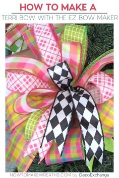 Love learning how to make different types of bows? The Terri Bow tutorial is quick and easy and takes less than 10 minutes to create a beautiful bow! Diy Bow, Diy Ribbon, Ribbon Crafts, Ribbon Hair, Ribbon Flower, Fabric Flowers, Bow Tutorial, Flower Tutorial, Ribbon Wreath Tutorial