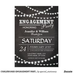 CHALKBOARD ENGAGEMENT PARTY INVITATIONS | MODERN