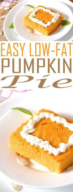 easy-low-fat-pumpkin-pie Weight Watchers Pumpkin Pie is a low-fat dessert recipe that saves on calories while being full of flavor. Enjoy this sweet recipe.